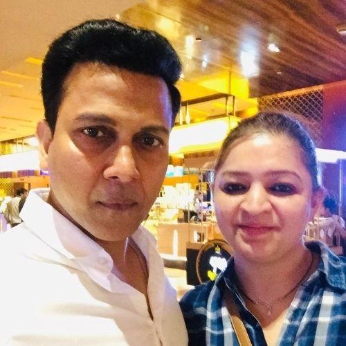 Mridul Kumar Sinha with Wife