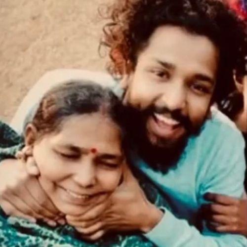 Neeraj Arya with Mother