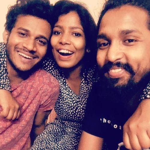 Neeraj Arya with Siblings