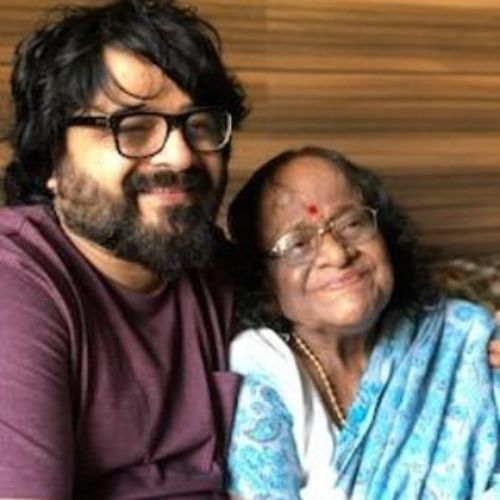 Pritam Chakraborty with Mother