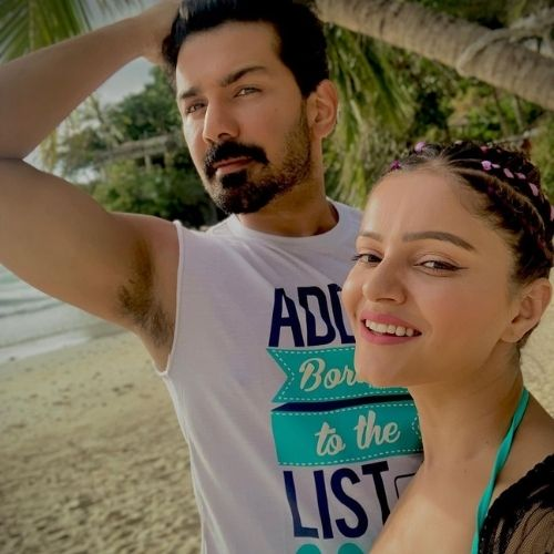 Rubina Dilaik with Husband