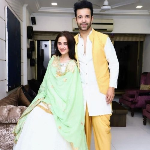 Sanjeeda Sheikh with Husband