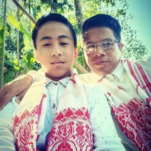 Marken Lollen with Father