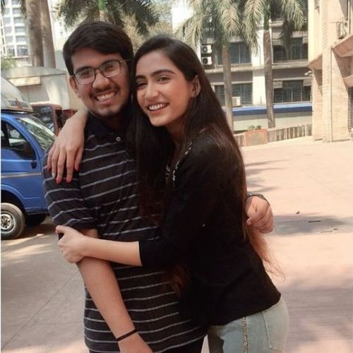 Prachi Singh with Brother