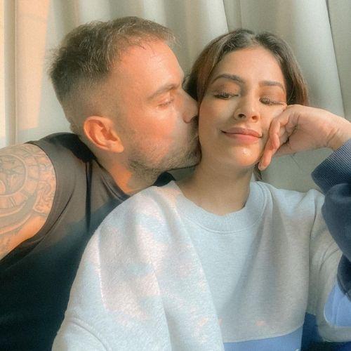 Rina Charaniya with Husband (Florian Hurel)