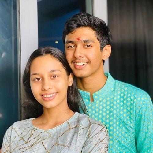 Rudhraksh Jaiswal with Sister (Sammaera Jaiswal)