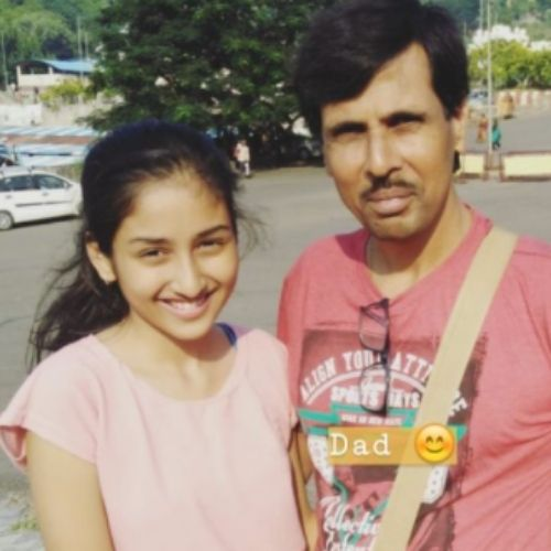 Anchal Sahu with Father