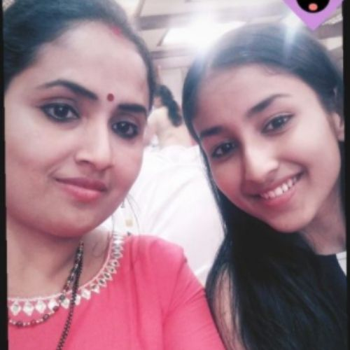 Anchal Sahu with Mother
