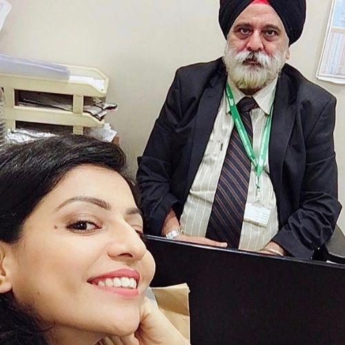 Divjot Sabarwal with Father