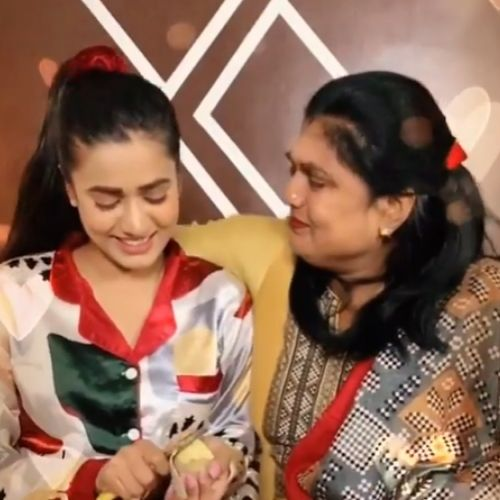 Garima Chaurasia with Mother