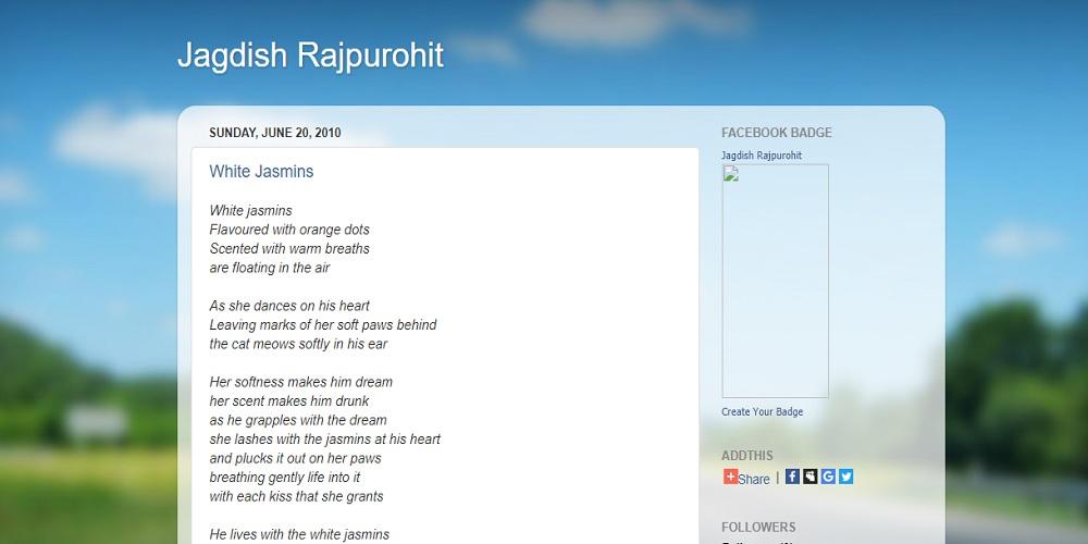 Jagdish Rajpurohit's Blog Image