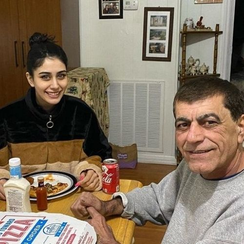 Warina Hussain with Father