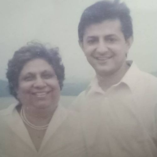 Yajuvendra Singh with Mother