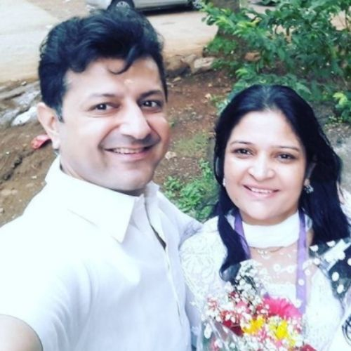 Yajuvendra Singh with Wife