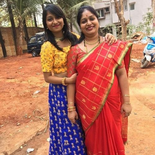 Chandana M Rao with Mother