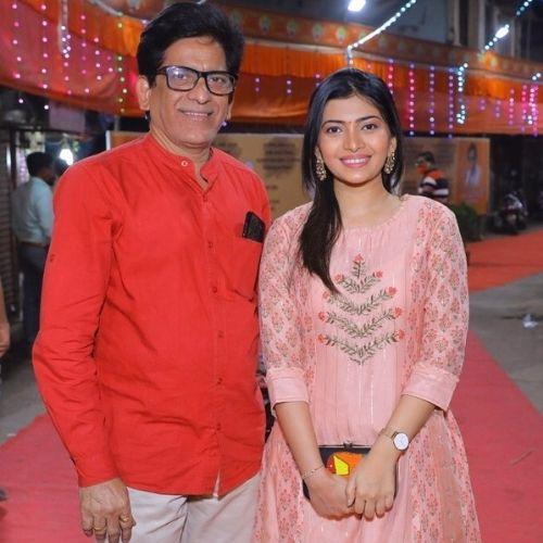 Ruchira Jadhav with Father
