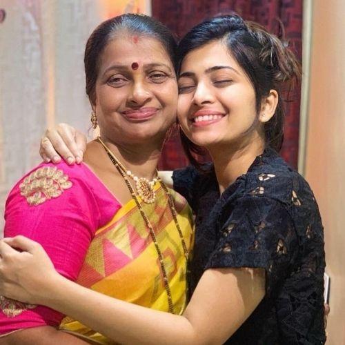 Ruchira Jadhav with Mother