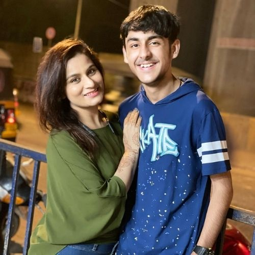 Yash Sehgal with Mother