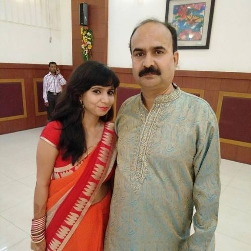 Aastha Jha with Father
