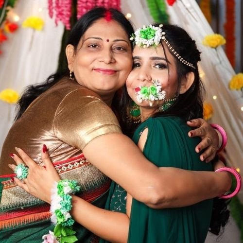 Aastha Jha with Mother