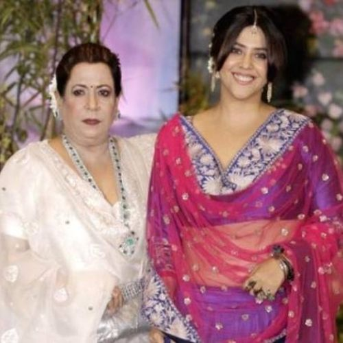 Ekta Kapoor with her Mother