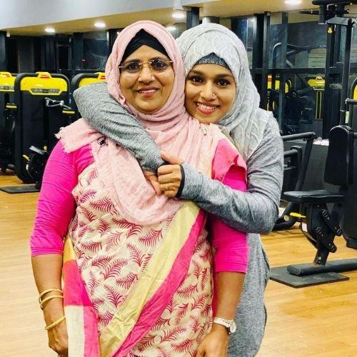 Majiziya Bhanu with Her Mother