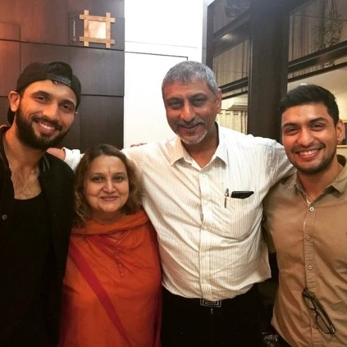 Punit Pathak with Family