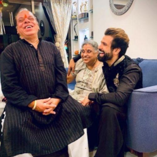 Rithvik Dhanjani with Parents
