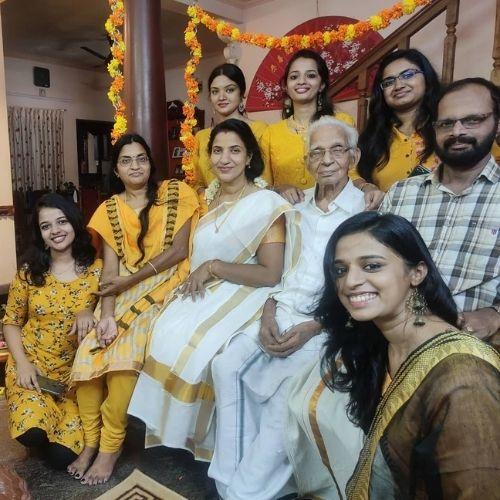 Soorya Menon with Her Family