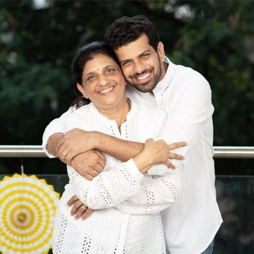 Ashutosh Gokhale with His Mother (Savita Gokhale)