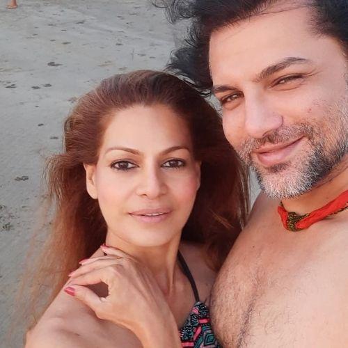 Chetan Hansraj with Lavania Pereira (Wife)