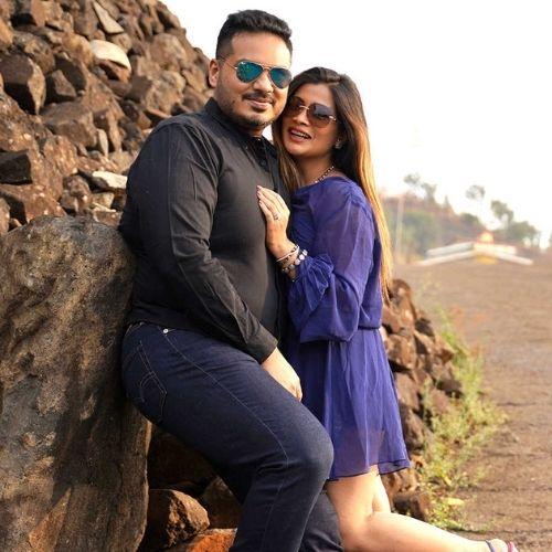 Ruchita Jadhav with Anand Mane (Husband)
